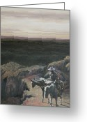 Riders Greeting Cards - The Overlook Greeting Card by Mia DeLode
