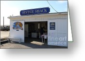 Marin Greeting Cards - The Oyster Shack at Drakes Bay Oyster Company in Point Reyes California . 7D9832 Greeting Card by Wingsdomain Art and Photography