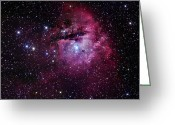H Ii Regions Greeting Cards - The Pacman Nebula Greeting Card by Robert Gendler