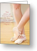 Dance Shoes Greeting Cards - The Pain of Discipline Greeting Card by Kim Fearheiley