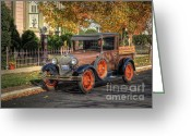 Antique Truck Greeting Cards - The Painted Ladys Gent Greeting Card by Pamela Baker