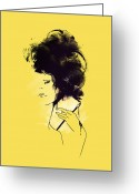Fashion Greeting Cards - The painter Greeting Card by Budi Satria Kwan