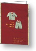 Vintage Movie Poster Greeting Cards - The Pajama Game Greeting Card by Megan Romo