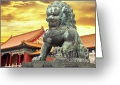 Forbidden City Greeting Cards - The Palace Museum in the Forbidden City Greeting Card by Giancarlo Liguori