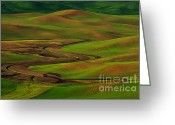  Beve Brown-clark Greeting Cards - The Palouse Greeting Card by Reflective Moments  Photography and Digital Art Images