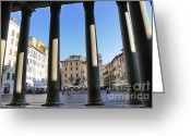 Persons Greeting Cards - The Pantheon . Piazza Della Rotonda. Rome Greeting Card by Bernard Jaubert