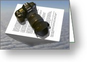 Camera Digital Art Greeting Cards - The Paperweight Greeting Card by Mike McGlothlen