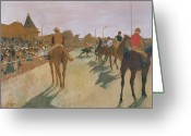The Start Greeting Cards - The Parade Greeting Card by Edgar Degas