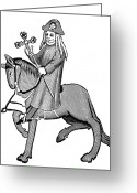 Canterbury Tales Greeting Cards - The Pardoner Greeting Card by Granger
