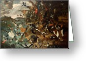 One Animal Painting Greeting Cards - The Parliament of Birds Greeting Card by Carl Wilhelm de Hamilton