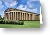 Nashville Greeting Cards - The Parthenon Greeting Card by Kristin Elmquist