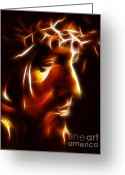 Pray Digital Art Greeting Cards - The Passion of Christ Greeting Card by Pamela Johnson