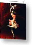 Featured Painting Greeting Cards - The Passion of Dance Greeting Card by Richard Young