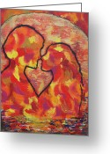 Impassioned Greeting Cards - The Passion of Romance Greeting Card by Evolve And Express