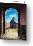 Great Painting Greeting Cards - The Past Greeting Card by Lynette Cook