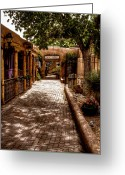 Albuquerque Greeting Cards - The Patio Market Greeting Card by David Patterson