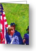 4th July Digital Art Greeting Cards - The Patriots Greeting Card by Cindy Wright