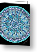 Mandalas Art Pastels Greeting Cards - The Peace Within Greeting Card by Marcia Lupo