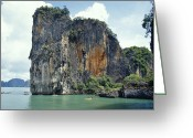 Tropical Island Greeting Cards - The Peaks Of A Limestone Island Dwarf Greeting Card by Jason Edwards