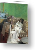 Kid Painting Greeting Cards - The Pedicure Greeting Card by Edgar Degas