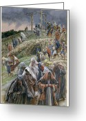Regret Greeting Cards - The people beholding the things that were done smote their breasts Greeting Card by Tissot