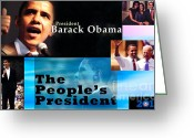 Vice President Joe Biden Greeting Cards - The Peoples President Greeting Card by Terry Wallace