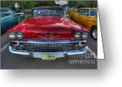 Top Model Greeting Cards - The Perfect Red Bel Air Greeting Card by Lee Dos Santos