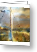 Storm Digital Art Greeting Cards - The Perfect Storm Greeting Card by Bob Salo