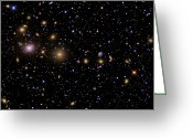Plasma Greeting Cards - The Perseus Galaxy Cluster Greeting Card by R Jay GaBany