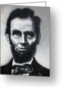 Abraham Mixed Media Greeting Cards - The perseverance of Lincoln Greeting Card by Joshua South