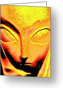 Ancient Aliens Greeting Cards - The Pharoah  Greeting Card by Xn Tyler