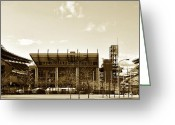 Lincoln Field Greeting Cards - The Philadelphia Eagles - Lincoln Financial Field Greeting Card by Bill Cannon