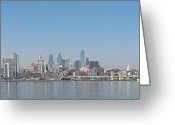 Camden Greeting Cards - The Philadelphia Waterfront Greeting Card by Bill Cannon