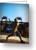 Schmidt Greeting Cards - The Phillies - Mike Schmidt Greeting Card by Bill Cannon