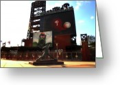 Citizens Bank Park Philadelphia Greeting Cards - The Phillies - Steve Carlton Greeting Card by Bill Cannon