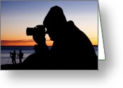 York Maine Greeting Cards - The Photographer Greeting Card by Greg Fortier
