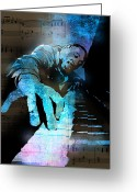 Performer Greeting Cards - The Piano Man Greeting Card by Paul Sachtleben