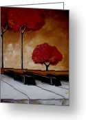 Surreal Landscape Greeting Cards - The Piano Mans Dream Greeting Card by Vickie Warner