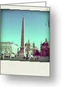 Persons Greeting Cards - The Piazza del Popolo. Rome Greeting Card by Bernard Jaubert