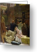 Alma-tadema Greeting Cards - The Picture Gallery Greeting Card by Sir Lawrence Alma-Tadema