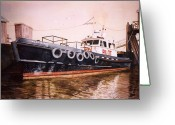 Long Island Greeting Cards - The Pilot Boat Greeting Card by Marguerite Chadwick-Juner