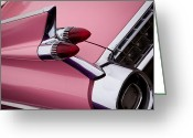 Mascots Greeting Cards - The Pink Cadillac Greeting Card by David Patterson