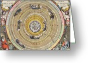 Ptolemaic Greeting Cards - The Planisphere Of Ptolemy, Harmonia Greeting Card by Science Source