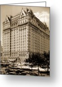 Silver Gelatin Greeting Cards - The Plaza Hotel Greeting Card by Henry Janeway Hardenbergh