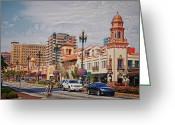 Kansas City Greeting Cards - The Plaza in Kansas City Greeting Card by Lyle  Huisken