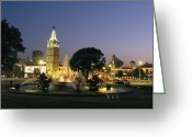 Midwestern States Greeting Cards - The Plaza In Kansas City, Mo, At Night Greeting Card by Michael S. Lewis