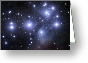 Astrophotography Greeting Cards - The Pleiades Greeting Card by Robert Gendler