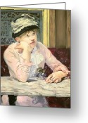 Chin Greeting Cards - The Plum Greeting Card by Edouard Manet