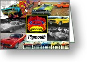 Ram Air Greeting Cards - The Plymouth Rapid Transit System Collage Greeting Card by Digital Repro Depot