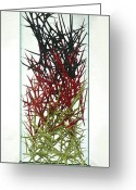 Nature Sculpture Greeting Cards - The Point Is Transition Greeting Card by Lonnie Tapia